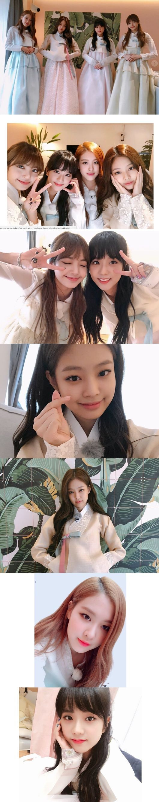 """Elegant Figures"" … BLACKPINK Releases Photos Dressed in Hanbok, Welcoming the Lunar New Year"